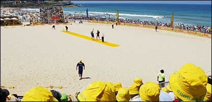 Action at Maroubra Beach in Sydney