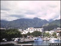 Papeete Harbour, Tahiti