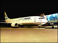 Plane at Prague Airport