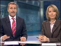 ITV newsreaders Mark Austin and Mary Nightingale