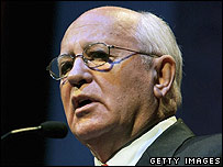 Former Soviet leader Mikhail Gorbachev