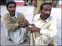 The Maachhi brothers; Mohammad Aslam (left) and Maqbool Ahmad