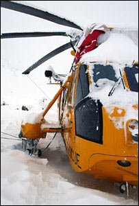 Sea King in Coire an t-Sneachda (Pic: Andreas Heinzl)