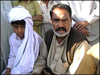 Only son of Ghulam Nabi Shah (left) with a cousin, Akhtar Hussain Shah, the complainant in the case