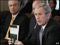 Bush con el presupuesto