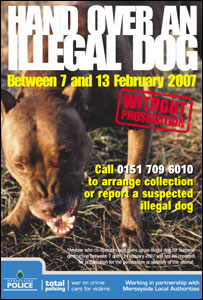 Poster advertising the dogs hand-in