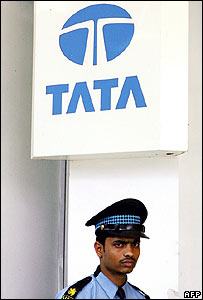 Security guard at Tata office in Delhi