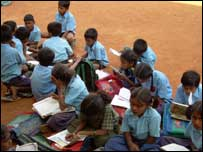 schoolchildren in Bangalore