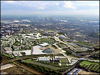 Computer generated image of how the Lea Valley area will looking after the Olympic development