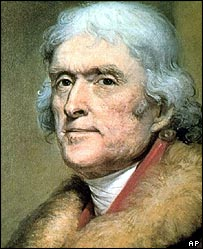 Thomas Jefferson  Image: AP