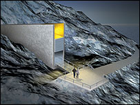 Entrance to the seed vault (Image: Statsbygg)