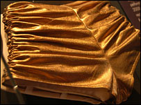 Kylie's iconic gold pants