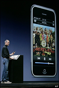 Steve Jobs launches the iPhone