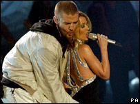 Justin Timberlake and Kylie Minogue