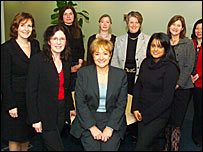 Minister Margaret Hodge, (middle) and the Women's Enterprise Task Force