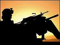 A Canadian soldier in Afghanistan (MoD file photo)