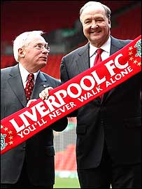 New Liverpool owners George Gillett (left) and Tom Hicks