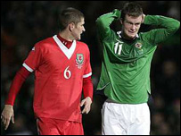 Chris Brunt (right) and Carl Robinson