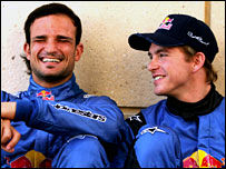 Vitantonio Liuzzi (left) and Scott Speed