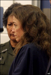 Lisa Nowak, foreground, makes her initial court appearance  Image: AP