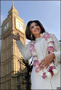 Shilpa Shetty at the Houses of Parliament