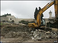 Work proceeding near al-Aqsa mosque