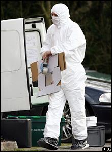 Police forensic officer at Wokingham letter bomb scene