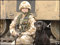 Sadie and Lance Corporal Yardley