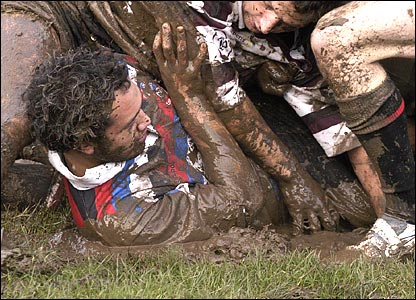 Colin Douglas' muddy rugby player