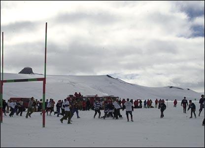 Phil Allen's Antarctica rugby match