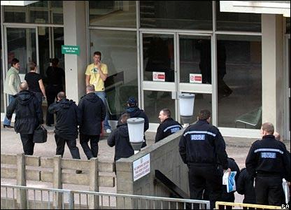 Police enter DVLA building