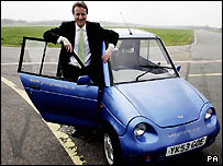 UK Tory Party leader David Cameron with a Toyota Prius T Spirit