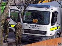 Bomb disposal specialists at scene of DVLA letter bomb explosion