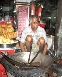 Street food vendor in Old Delhi