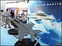Lockheed Martin stall at the Aero India show