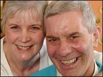 Corus survivor Peter Clement, with his wife Helen