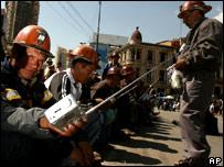 Miners in La Paz - 7/2/2007
