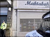 Abu Bakr works at the raided Maktabah bookshop