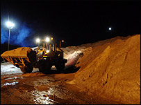 Gritting lorry in West Sussex