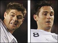 Steve Gerrard and Frank Lampard