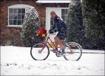 Postman on bike