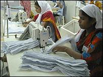 Women working in garment factory