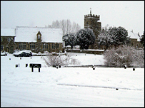 Ducklington School and church