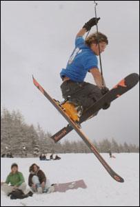 Skier near Brecon Beacons