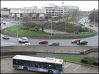 Brunel roundabout in Slough