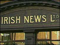 Irish News portico, via BBC website.