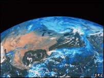 Satellite image of Earth (Image: SPL)