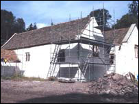 St Teilo's pictured at St Fagans during reconstruction