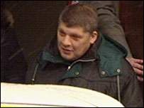 Derek Williams leaving Dolgellau Magistrates Court
