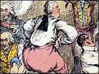 Lord Grenville as pictured by the cartoonist Gillray